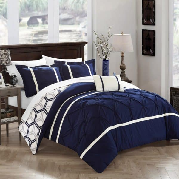 Navy Blue and Gray Bedroom Ideas - The Handyman's Daughter
