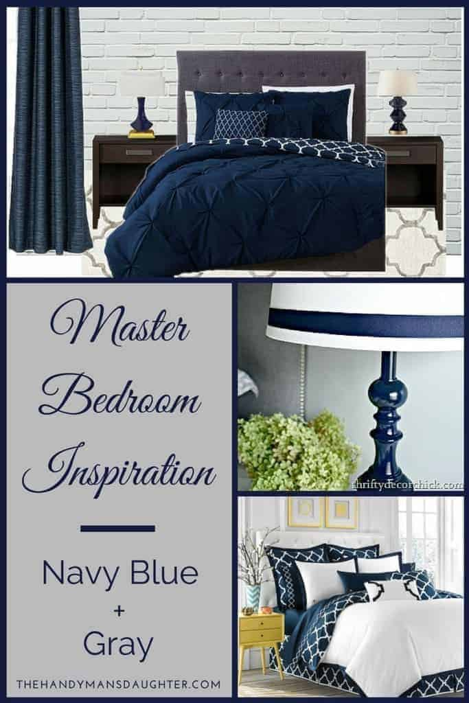 Navy Blue and Gray Bedroom Ideas - The Handyman\'s Daughter