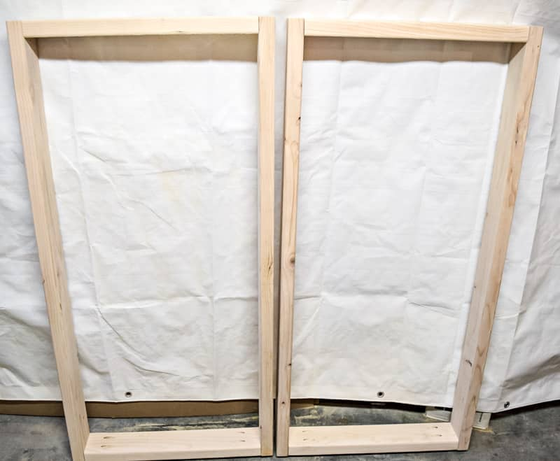 DIY cornhole board frames out of 2x4s