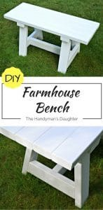 Diy Farmhouse Bench For Small Tables The Handyman S Daughter