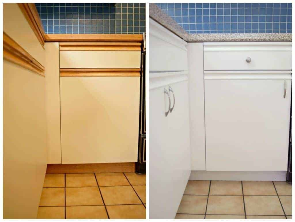 You CAN update that 80s kitchen without a complete remodel! This handy tutorial will show you how it's done. www.thehandymansdaughter.com