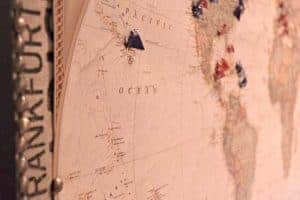 Our map pinboard marks all our travels. Each pin brings back so many memories! - www.thehandymansdaughter.com