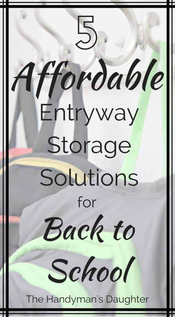 5 Affordable Entryway Storage Solutions for Back to School