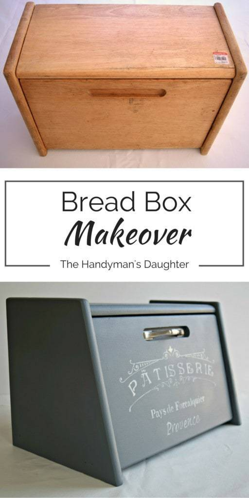 This bread box went through quite the transformation to earn a spot on our kitchen counter. Check out the full makeover at www.thehandymansdaughter.com!