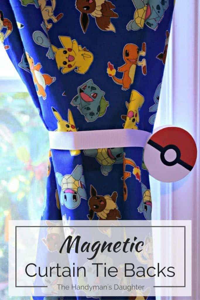 Pokemon Magnetic Curtain Tie Backs