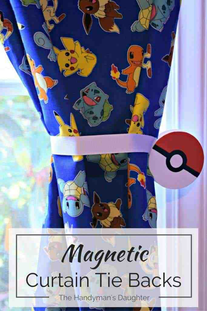 Magnetic curtain tie backs are simple to make, and can be customized to fit any decor! - www.thehandymansdaughter.com