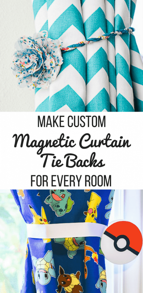 two different styles of magnetic curtain tie backs