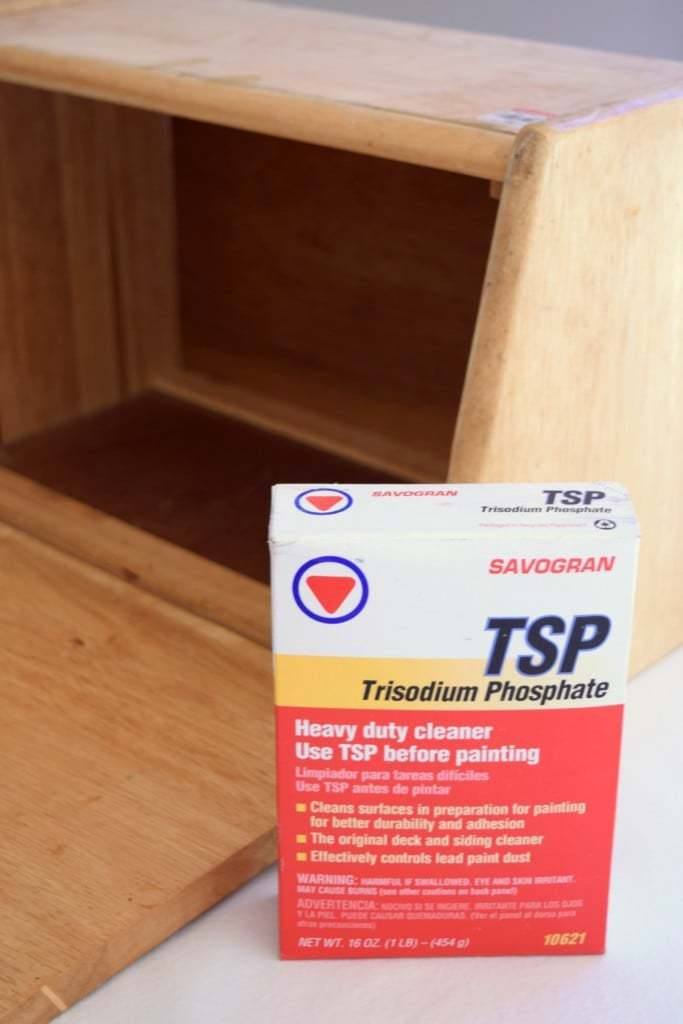 My thrifted bread box was pretty gross, but a good scrub with TSP cleaned it right up! - The Handyman's Daughter