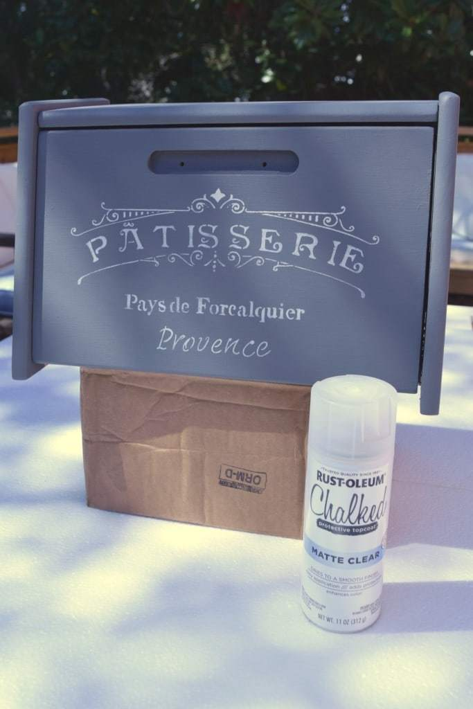 Rust-oeum's Chalked clear topcoat made finishing the bread box paint easy! - www.thehandymansdaughter.com