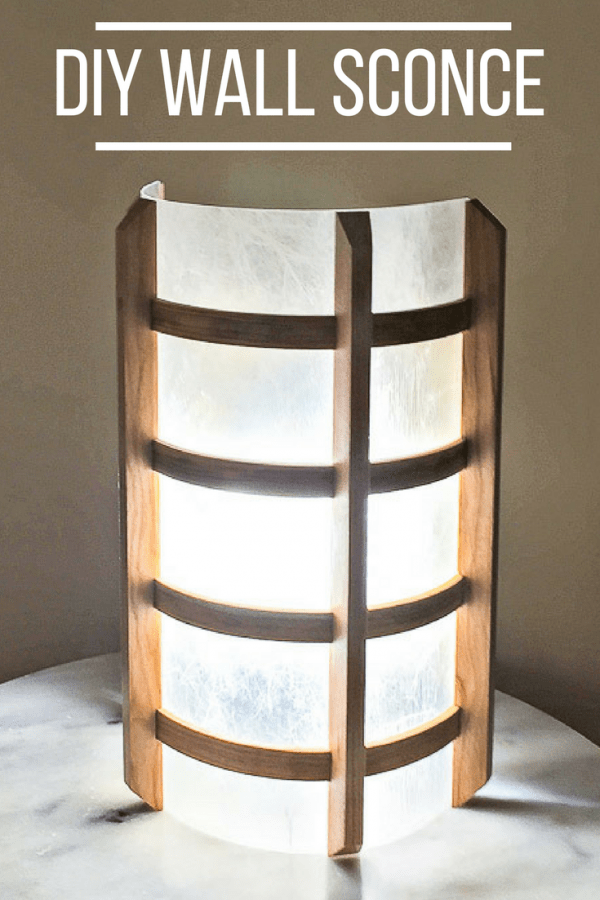 DIY Wall Sconce With Text Overlay