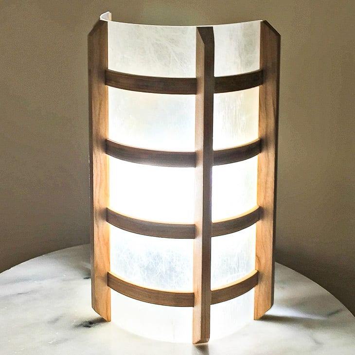 DIY lamp on a marble table