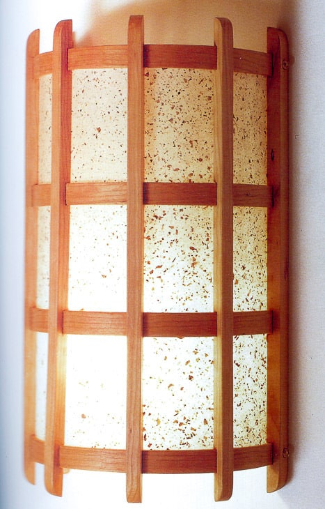 DIY wall sconce in Japanese lamps and lanterns book