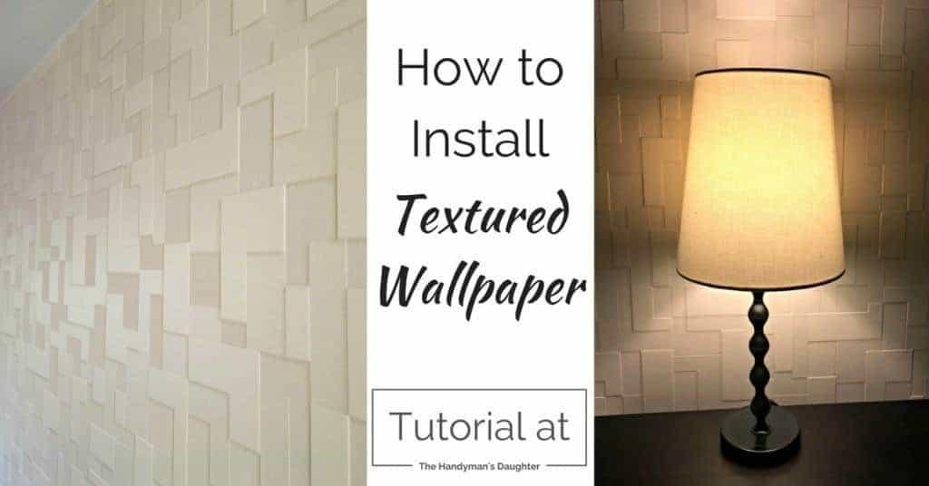 Textured Wallpaper Accent Wall - {Master Bedroom Update ...
