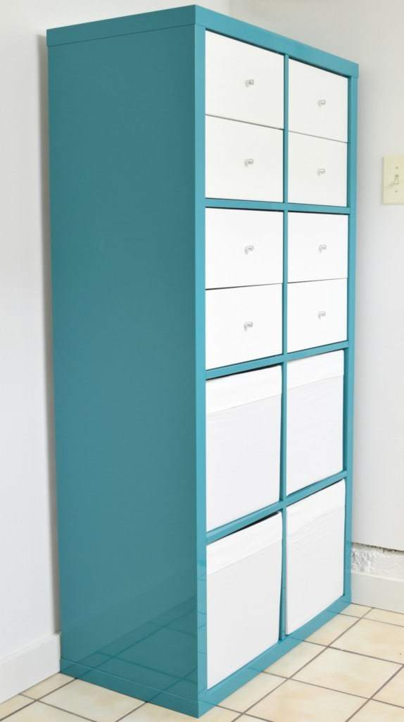 The IKEA Rast I painted matches this Kallax storage unit we already had - The Handyman's Daughter