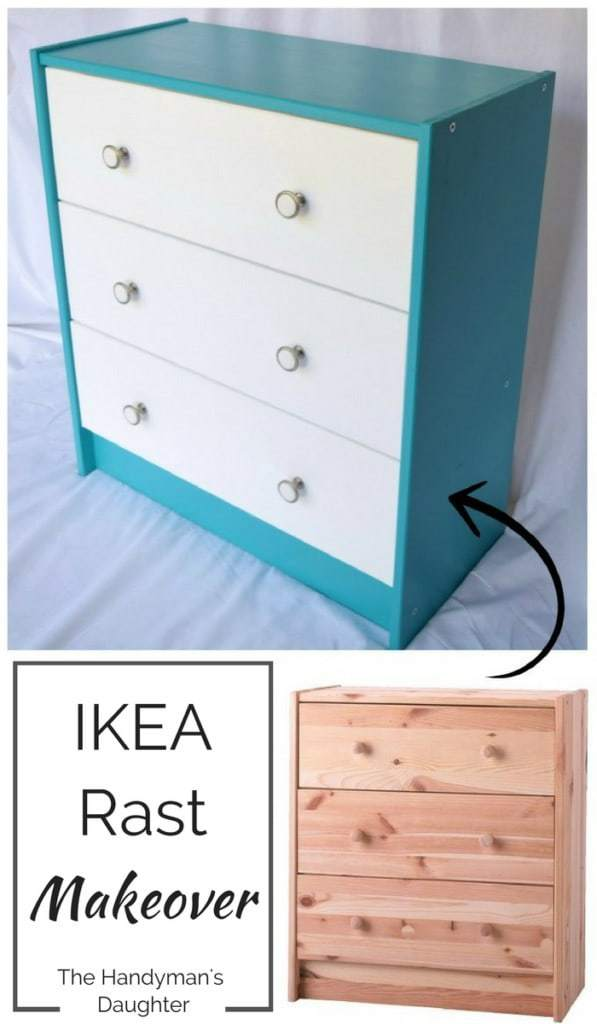 Transform a basic pine dresser into a cheerful piece that will brighten any room. Start with an IKEA Rast dresser! - The Handyman's Daughter