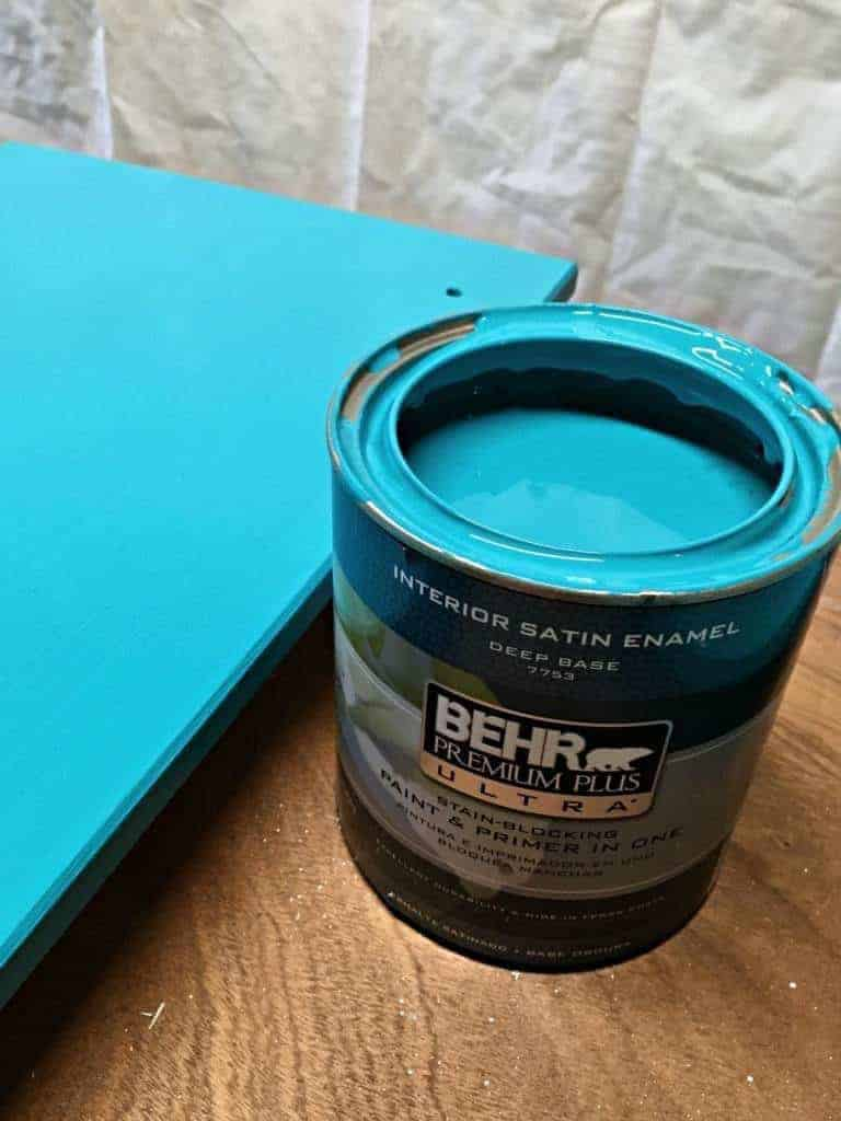 This bright turquoise color was painted on the exterior frame pieces of my IKEA Rast - The Handyman's Daughter
