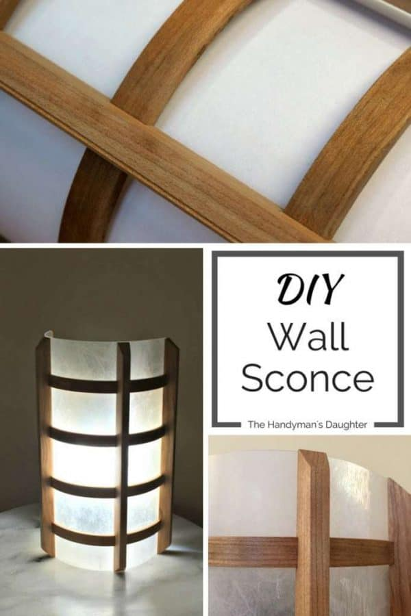DIY Wooden Wall Sconce