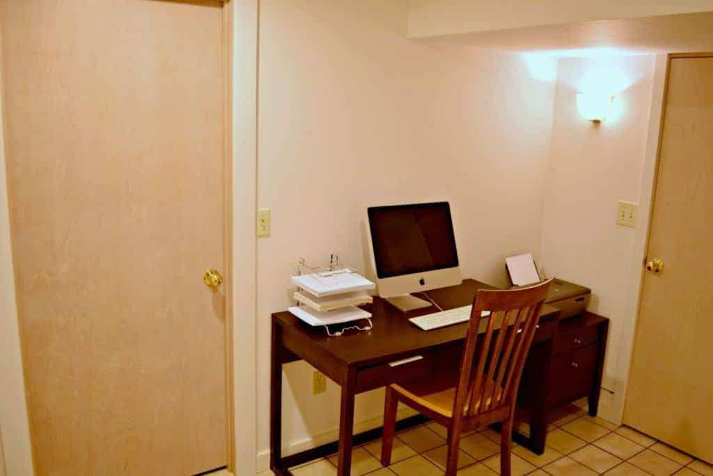 Our basement office was dull and lifeless. It needed a burst of color! - The Handyman's Daughter