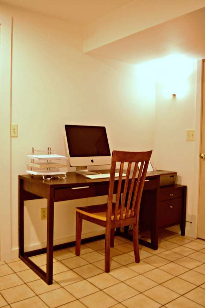 Our basement office was drab and boring. I didn't want to spend a lot of money on it, so I had to get creative! - The Handyman's Daughter