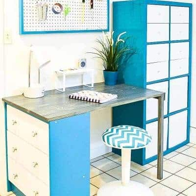 This $100 office makeover combined new pieces with old to create the perfect workspace!