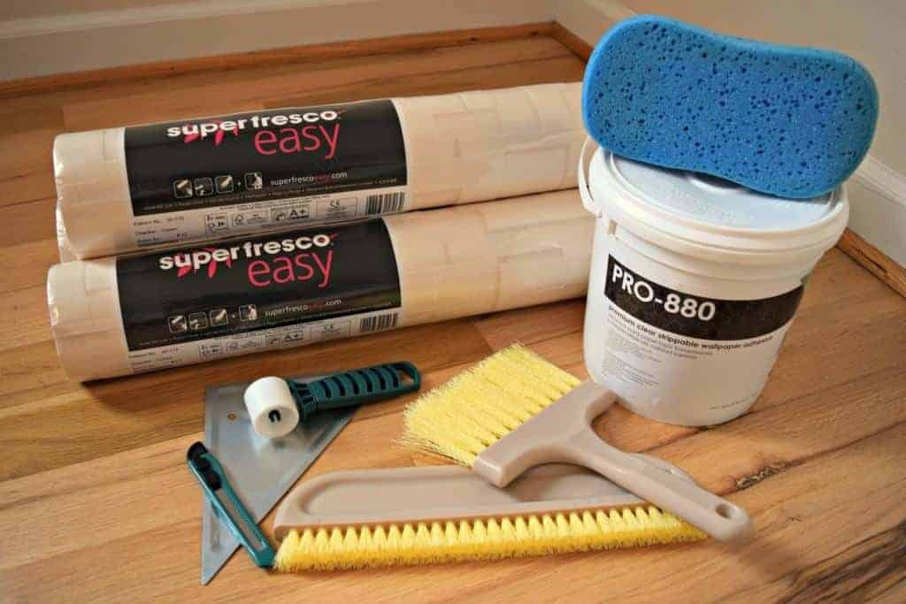 This is everything you'll need to successfully apply textured wallpaper to your walls! - The Handyman's Daughter
