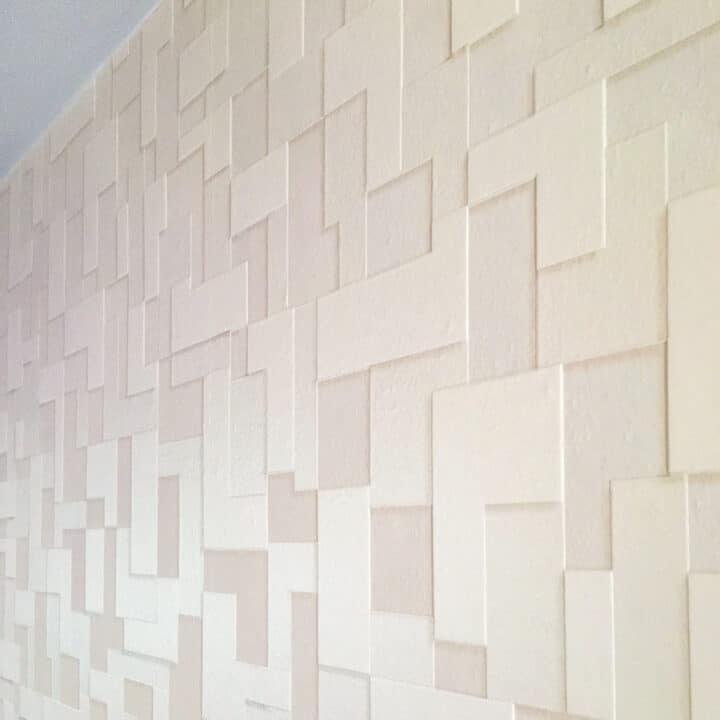 textured wallpaper accent wall