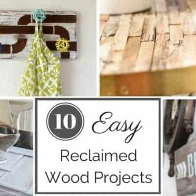These ten easy reclaimed wood projects will give your home that rustic farmhouse look in no time! See them all at The Handyman's Daughter.