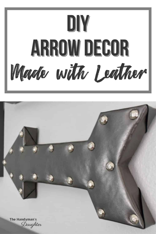 Leather DIY arrow decor