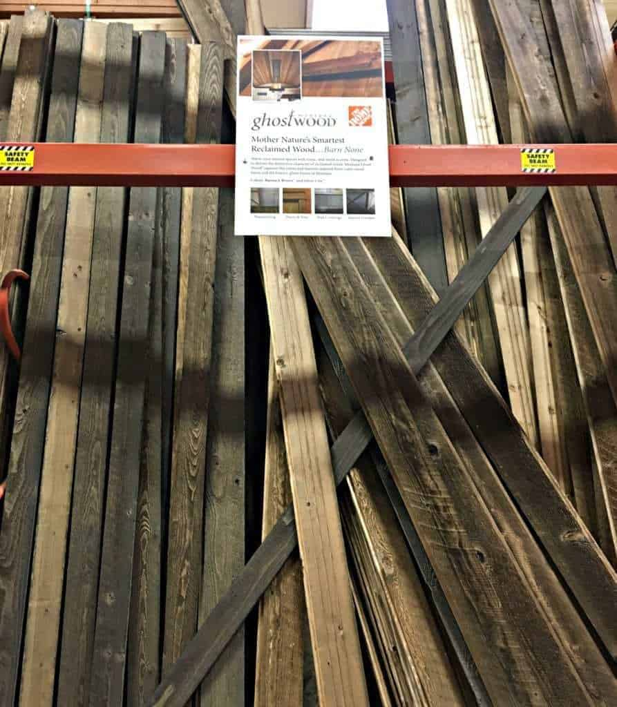 You can now get that reclaimed wood look at Home Depot! Ghostwood is gorgeous lumber that looks just like the real thing! - The Handyman's Daughter