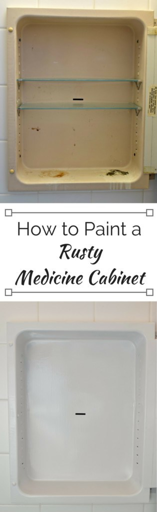 how to paint a rusty medicine cabinet the handyman 39 s daughter. Black Bedroom Furniture Sets. Home Design Ideas