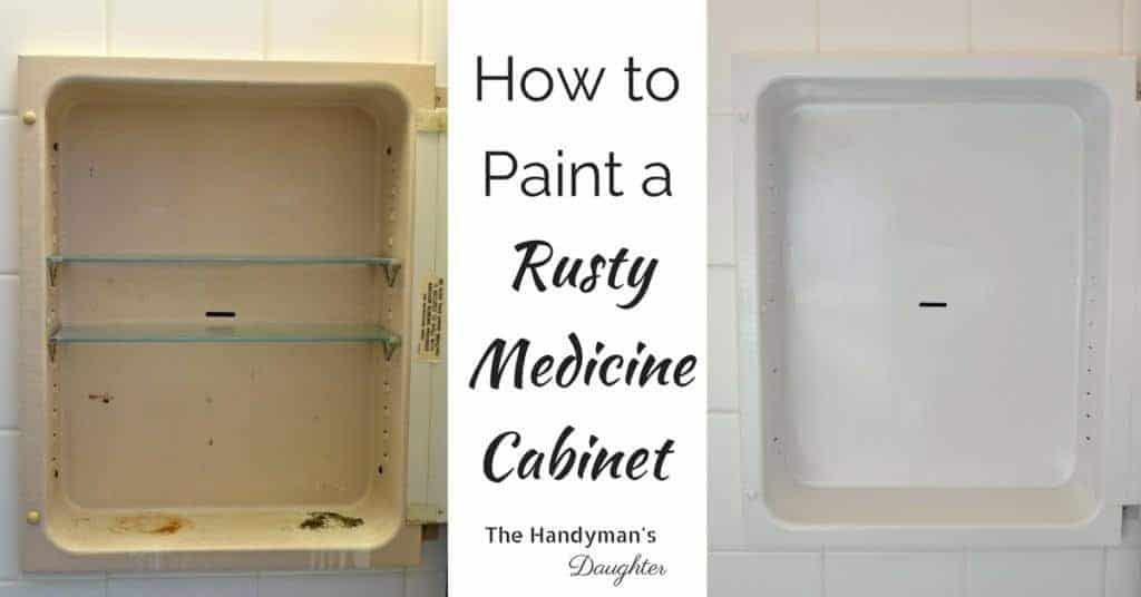 Make your ugly rusty medicine cabinet sparkling white with these handy tips! See the full tutorial on The Handyman's Daughter.