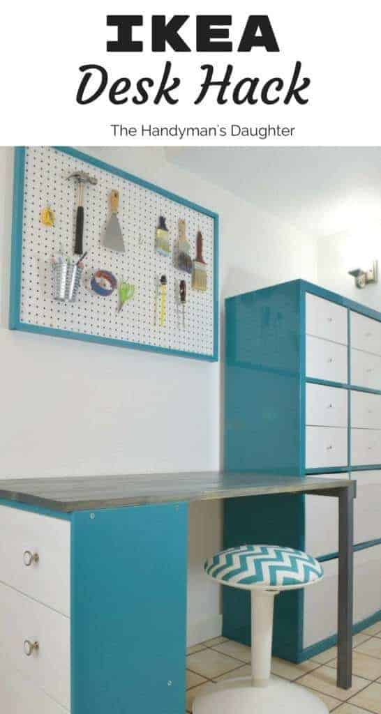 This IKEA Desk Hack Is Easy To Do With A Rast Dresser, Kallax Storage Unit