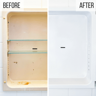 old metal medicine cabinet before and after