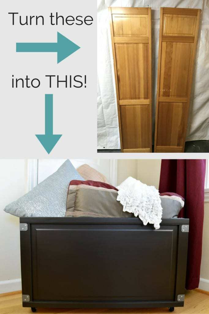 Upcycle those old bi-fold doors into a beautiful blanket box! Full tutorial at The Handyman's Daughter!