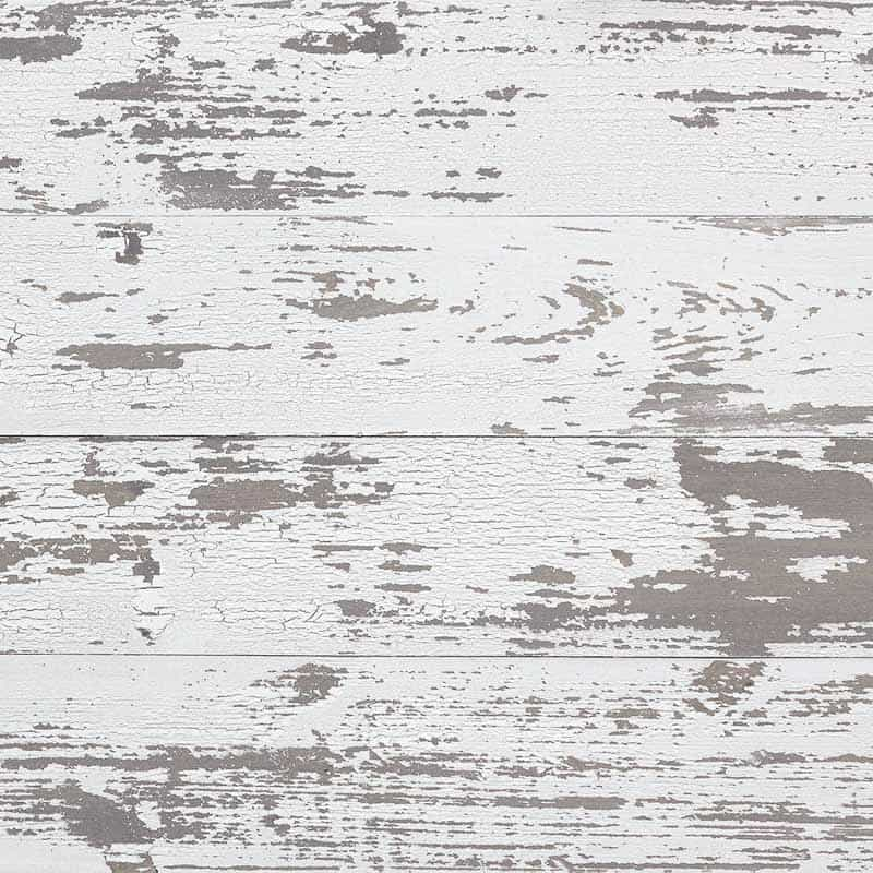 white chipped paint reclaimed wood