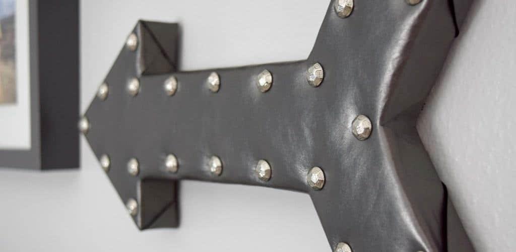 DIY Leather Arrow Wall Decor
