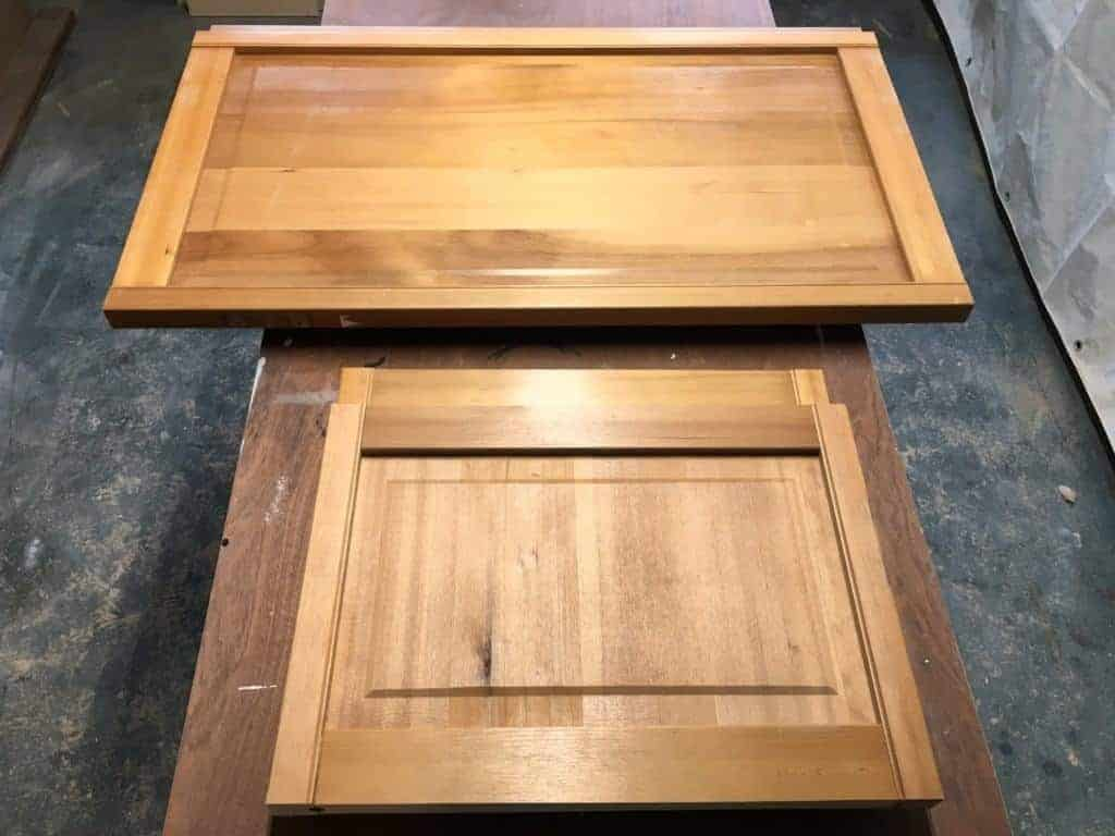 The smaller top panels and long bottom panels were perfect for the sides of my blanket box. - The Handyman's Daughter