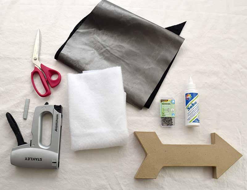 materials needed to make DIY arrow decor