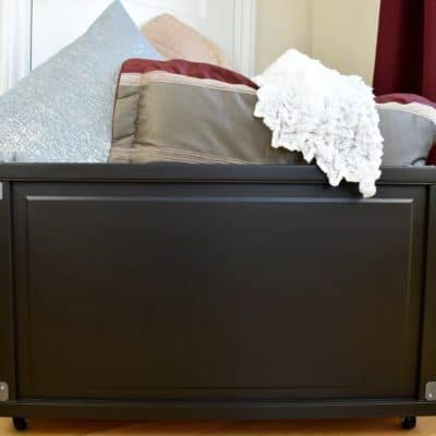 DIY Blanket Box Made From Bi-fold Doors