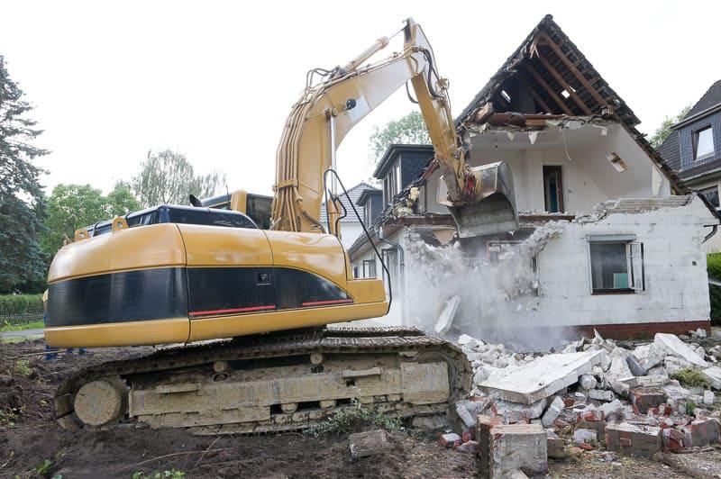demolition of old house