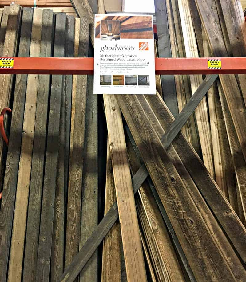 reclaimed wood home depot