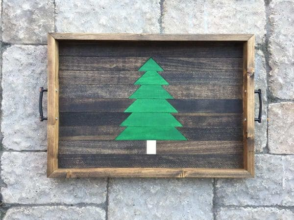 This Christmas tree serving tray would make a great gift!
