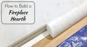 Build a fireplace hearth that's low profile and elegant! This handy tutorial shows you how to create it yourself using cement backer board! - The Handyman's Daughter
