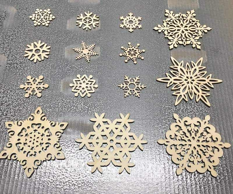 These wooden snowflakes were the perfect addition to my Let it Snow sign