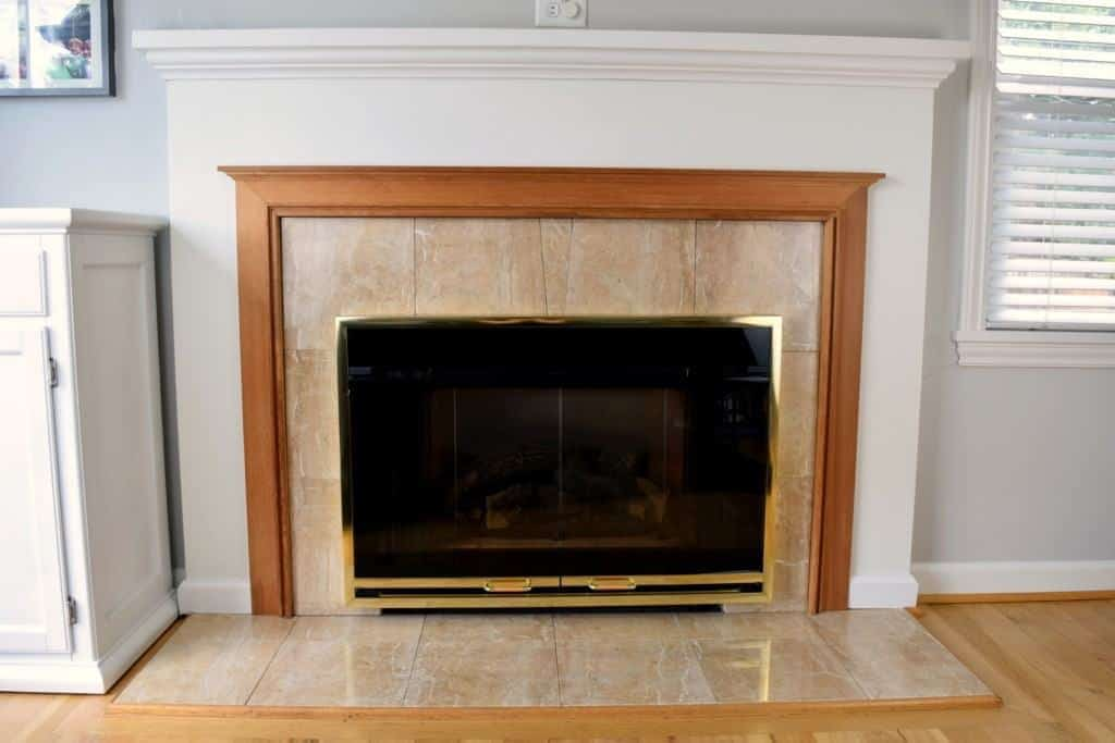 I've been looking forward to demolishing this fireplace since we first bought our house! - The Handyman's Daughter