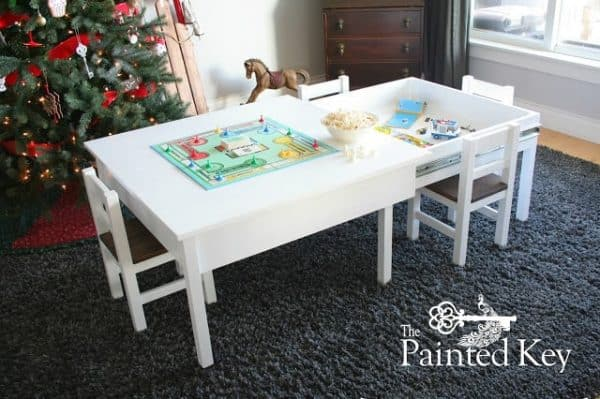 What kid wouldn't want this sliding Lego table under their tree on Christmas morning?