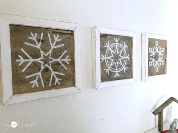 Build these snowflake art pieces now, and flip them over for new decor after the holidays are over!