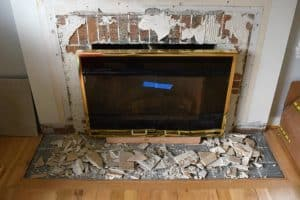 Fireplace demolition is messy! - The Handyman's Daughter