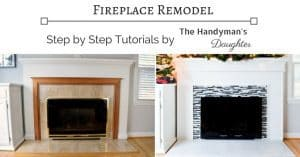 Thinking of doing your own fireplace remodel? These tutorials will show you how it's done, one step at a time!