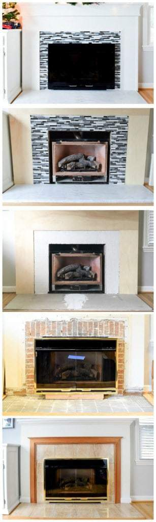 Wow, this fireplace remodel is amazing! There are detailed tutorials for each step in the process too!
